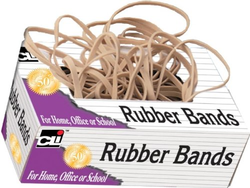 Charles Leonard Rubber Bands, Tissue-style Box, #32, Beige (56132) ()