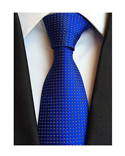 - Elfeves Mens Royal Blue Silk Cravat Ties Woven Dance Formal Neckties Gift Ideal