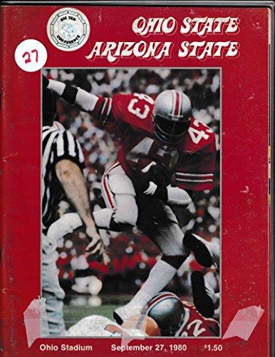 1980 Ohio State University Football Prog Vs Arizona St 09/27 Calvin Murray 39 (Arizona State Vs University Of Arizona Football)