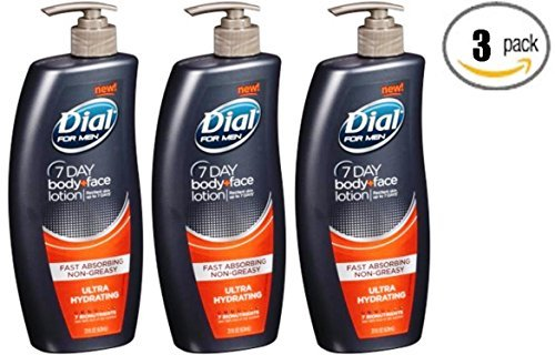 Dial For Men Nutriskin Ultra Hydrating Body and Hand Lotion, 21 ounce (Pack of 3) - Packaging May Vary