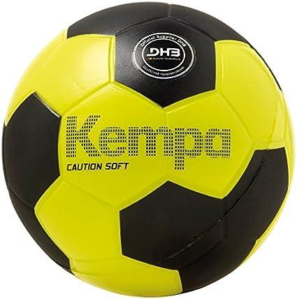 Kempa Soft Caution Balón de Entrenamiento, Unisex, Negro/Amarillo ...