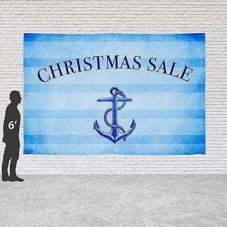 Christmas Sale 12x8 CGSignLab Nautical Stripes Heavy-Duty Outdoor Vinyl Banner