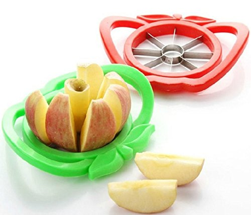 Show Apple cutter knife corers fruit slicer Multi-function ABS+ stainless steel kitchen cooking Vegetable Tools(Color randomly send,1pcs) price