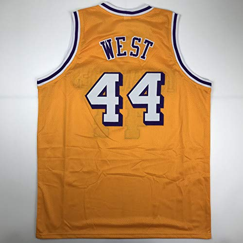 Unsigned Jerry West Los Angeles LA Yellow Custom Stitched Basketball Jersey Size Men's XL New No Brands/Logos