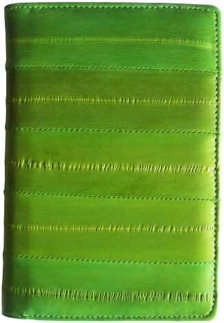 Rainbow Men's Women's Genuine Eel Skin Leather Passport Holder Cover Wallet