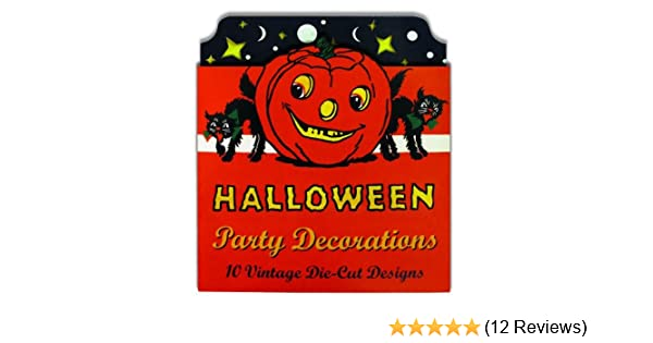 Party Decoration fnt Retro Vintage Halloween Cutouts 9 inch 4 per pack