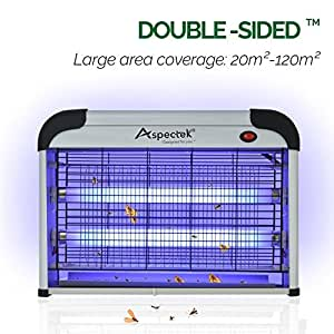 Aspectek 20W Bug Zapper Electric Indoor Insect Killer and Mosquito Fly Killer Zapper with 2800V Grid 6000sqft Coverage