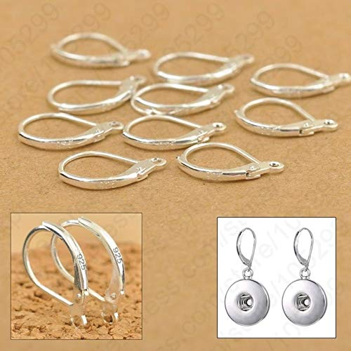 Beading Earwire - Laliva 100PCS S90 Silver DIY Beadings Findings Earring Hooks Leverback Earwire Fittings Components