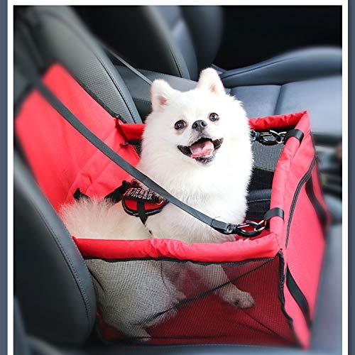 XCXDX Funda para Asiento De Coche para Perro, Asiento De Seguridad para Mascotas De Automóvil, Bolsa De Viaje para Mascotas,...