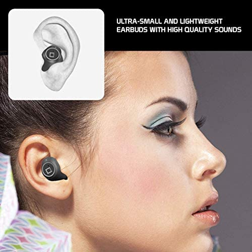 Visit New Wireless V5 Bluetooth Earbuds Works for Samsung Galaxy A71 5G with Charging case for in Ear Headphones. (V5.0 Black) fMPYGwc