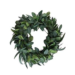 "Hearth & Hand Magnolia Eucalyptus Artificial Wreath 24"" Door Wall Window Wreath Greenery 86"