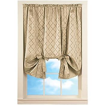 Amazon Com Today S Curtain Verona Reverse Embroidery Tie
