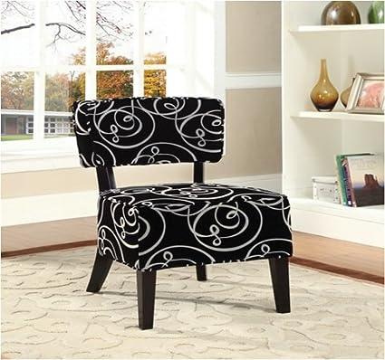 Amazoncom Sophias Galleria Home Decor Accent Chair Black White