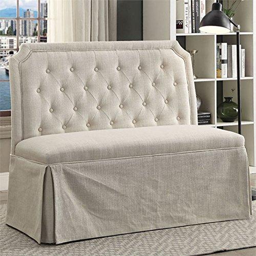 Buy furniture of america ellis settee in beige