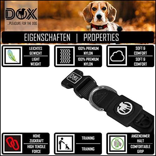 DDOXX Collier Chien Nylon, Réglable   Nombreuses Couleurs & Tailles   pour Petit, Moyen Gros & Grand   Colliers Chat Chiot   Noir, S