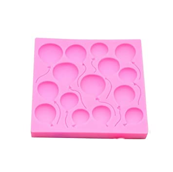 Gessppo Molde de pastel Silicone Balloons Fondant Cake Mould Sugarcraft Chocolate Decorating Mold Baking Tools Cake