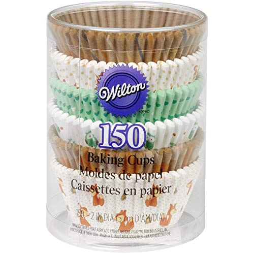 Wilton 415-2870 150 Count Woodland Animals Baking Cups Value Pack, Assorted -