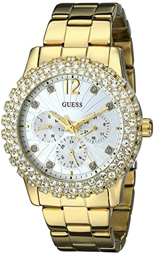 GUESS-Womens-U0335L2-Gold-Tone-Multi-Function-Watch-with-Genuine-Crystal-Accented-Case