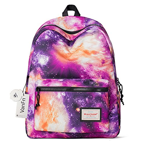s' Backpacks, Galaxy Pattern Casual Schoolbags, Classic College 14