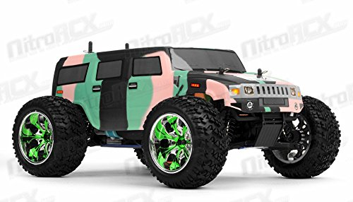 NEW! 1/10 2.4G Exceed RC Radio Hammer Nitro Gas RTR Monster 4WD Truck Camo Green - Nitro Hammer