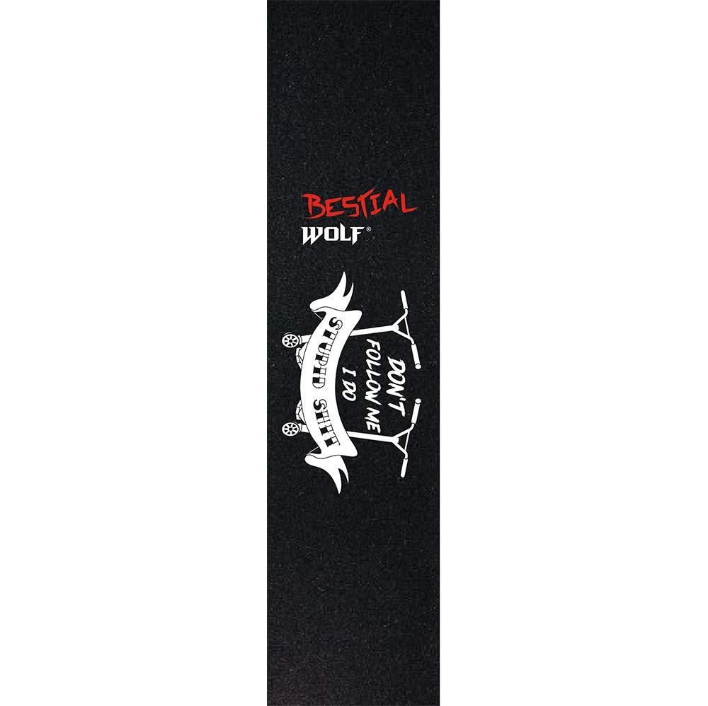 BESTIAL WOLF GRIPTAPE18, Lija Personalizada para Patinete 12 x 53 cm