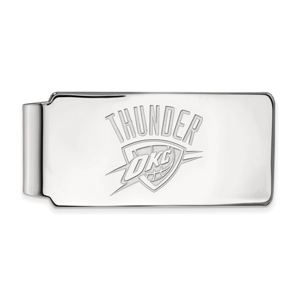 NBA Oklahoma City Thunder Money Clip in Rhodium Plated Sterling Silver
