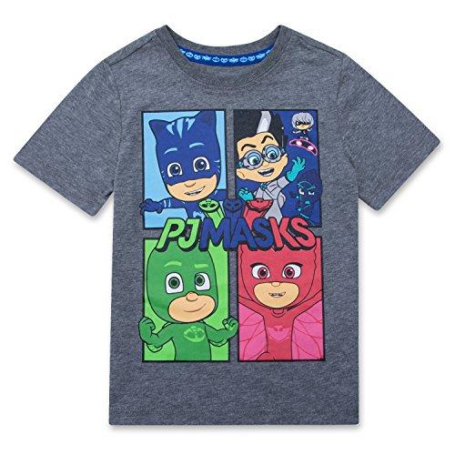 PJMASKS PJ Masks Short Sleeve T-Shirt Catboy, Owlette, Gekko Short Sleeve Group T-Shirt (Group Shot, 6)
