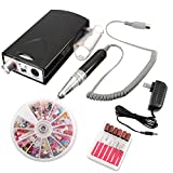iMeshbean Professional Improved Portable Rechargeable Electric Nail File Drill Acrylic Pedicure Machine Bits Tool Kit USA