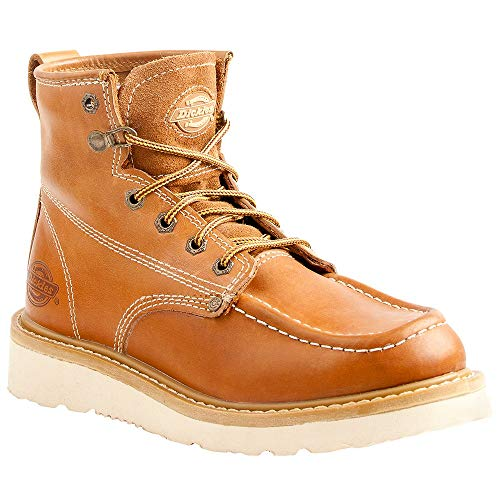 Dickies Men's Trader Steel Toe EH Construction Boot Luggage tan 10.5 Medium ()