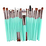 Gotd 20PCs Cosmetic Eyebrow Eyeshadow Brush Makeup Brush Sets Kits Tools