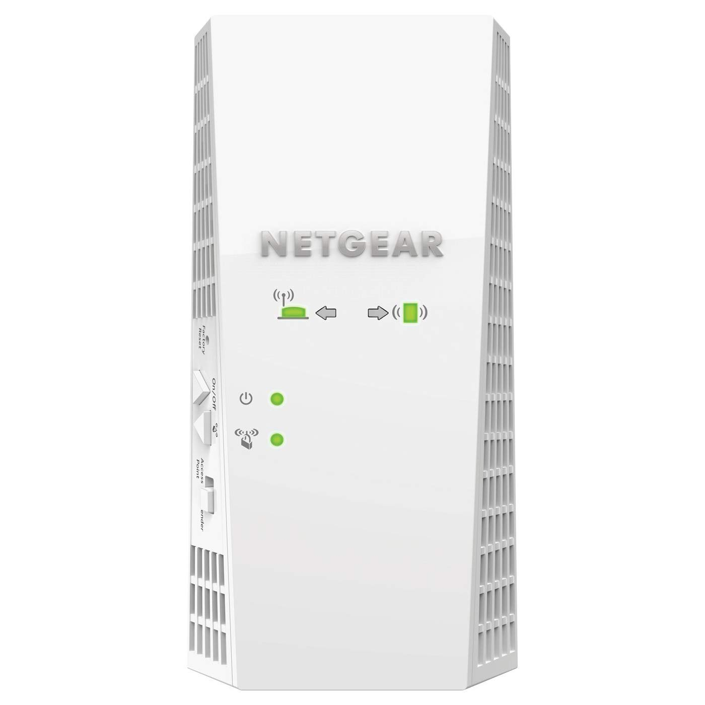 NETGEAR AC2200 Mesh WiFi Extender, Seamless Roaming, One WiFi Name, Works with Any WiFi Router. Create Your own Mesh WiFi System (EX7300) (Certified Refurbished)