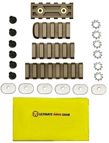 ABALTFCRFDE American Built AB Arms LTFCR FDE Flat Dark Earth Polymer 4/5/7 Picatinny Slots Combo Pack Fits ABAM1 or ABAPRO + Ultimate Arms Gear Care and Reel Silicone Cleaning Cloth