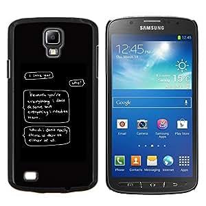 YiPhone /// Prima de resorte delgada de la cubierta del caso de Shell Armor - Merecen Amor Cita divertida mismo digno de usted - Samsung Galaxy S4 Active i9295