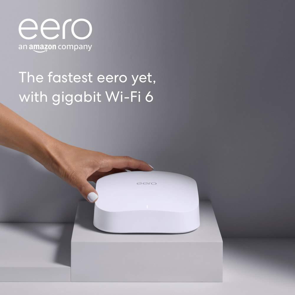 Introducing Amazon eero Pro 6 tri-band mesh Wi-Fi 6 router with built-in Zigbee smart home hub
