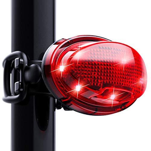 Premium 300 Lumens LED Bike Tail Light - Waterproof, Ultra Bright & USB Rechargeable Safety Tail Light - 7 Lightning Modes - Ideal for Night Riders (Red)