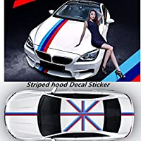 "6"" Wide Italian French Germany Flag Stripe Decal Sticker For Audi BMW Mercedes MINI Porsche Volkswagen Exterior Cosmetic, Hood, Front/Rear Bumpers, Side Fenders by Fangfei"