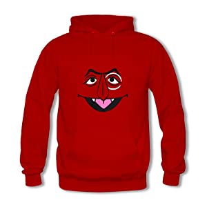The Count Men Casual hoodies Red Pullover Hooded Sweatshirt XX-Large