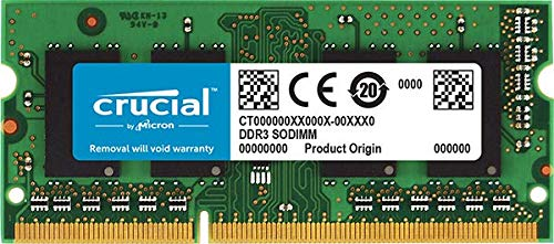 (Crucial 2GB, 204-pin SODIMM, DDR3)