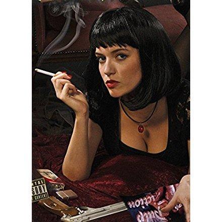Pulp Fiction Costume Mia (Pulp Fiction Style Black Mia Wig)