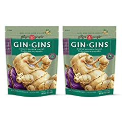 """America's #1 selling ginger candy and winner of Fiery Food Association's Scovie Award for """"Best Candy,"""" our Gin Gins Original Chewy Ginger Candy are natural, stimulating and delicious. Given ginger's queasy-quelling properties, Gin Gins are g..."""