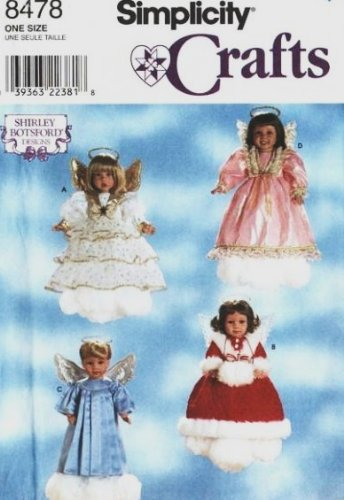 (SIMPLICITY 8478 Angel Outfit Pattern for 18 Inch Dolls ~ Christmas, American )