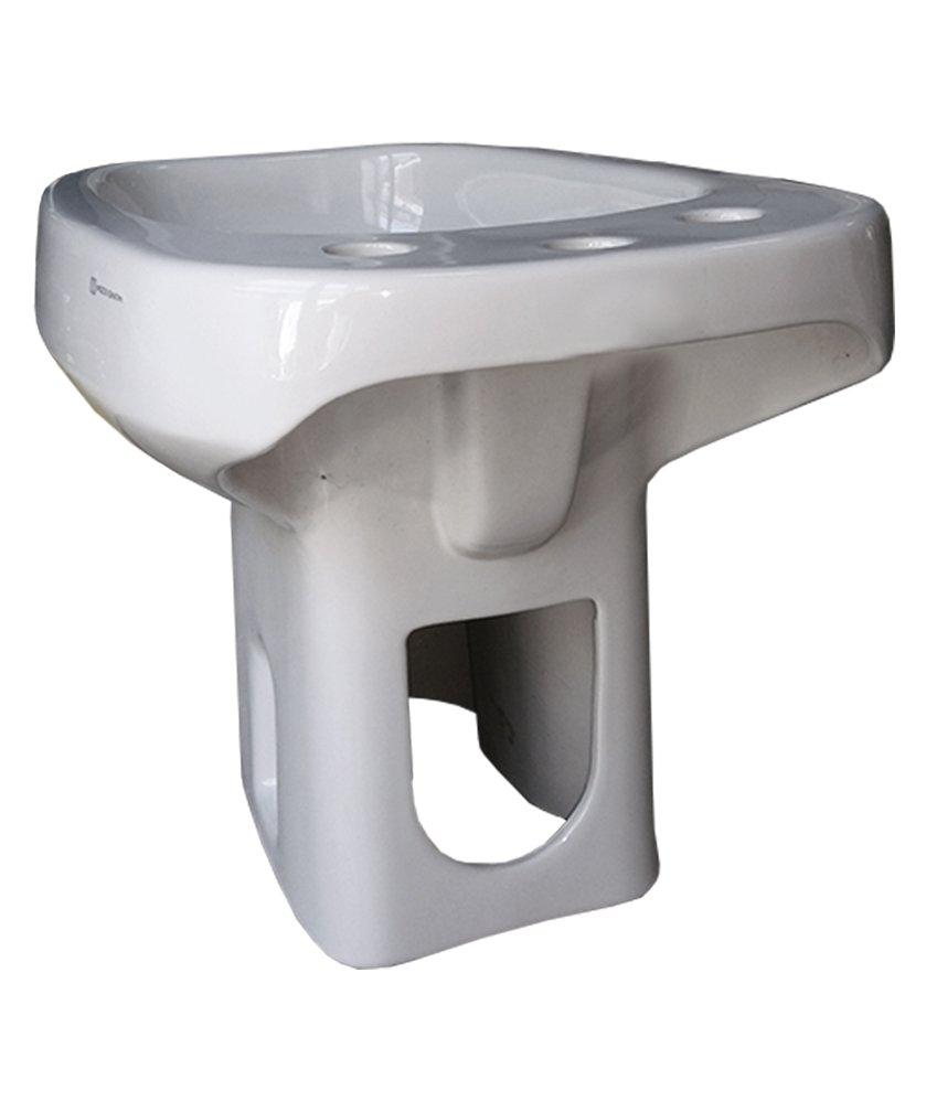 Sanitari bagno Bidet Pozzi Ginori modello Square colore bianco 3 tre fori