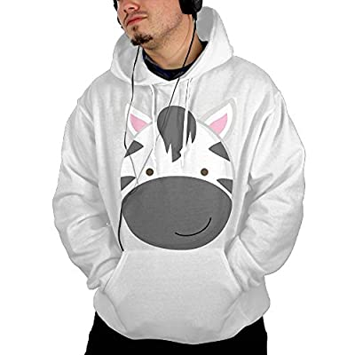UUE Men's Pullover Hoodie Sweatshirt With Pockets Printed Zebra Design For Men Boys