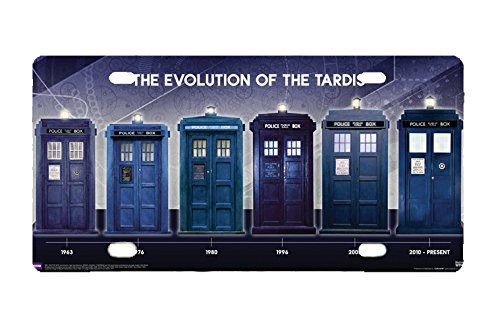 Panda Doctor Who Evolution of the Tardis license frame custom Metal License Plate for Car Novelty license plate 12 inch X 6 inch ()