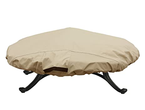 Porch Shield 100% Waterproof Round 600D Heavy Duty Patio Fire Pit/Table  Cover (
