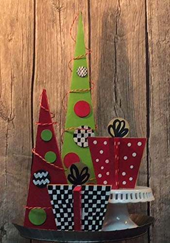 Whimsical Green & Red Tree