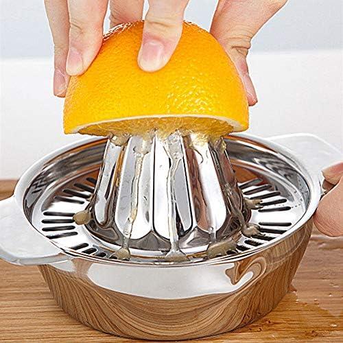 Lantro JS Exprimidor Manual, función de filtrado, fácil de Limpiar, diseño Antideslizante, exprimidor, Duradero, de Gran Capacidad para Naranjas, familias, Limones, restaurantes