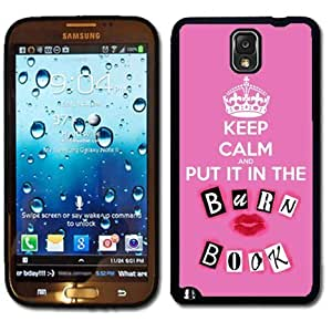 Samsung Galaxy Note 3 Black Rubber Silicone Case - Keep calm and Put it in the Burn Book Burnbook Mean Girls