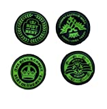 GREEN 4 pc set of Kings Choice Silicone Thumb Grips for XBOX ONE / 360, PS3 and PS4