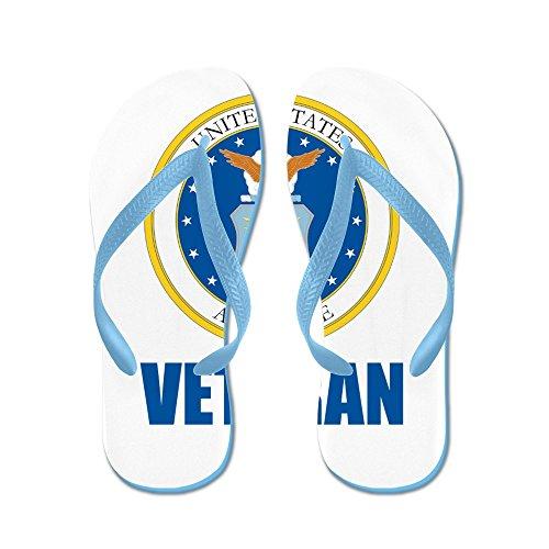 Cafepress Oss Flygvapen Veteran - Flip Flops, Roliga Rem Sandaler, Strand Sandaler Caribbean Blue